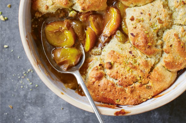 The Orchard Cook greengage cobbler