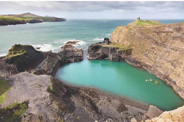 Blue Lagoon at Abereiddy, Pembrokeshire, South Wales