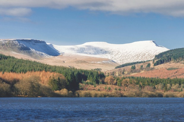 Pen-y-fan and Corn Du in the Brecon Beacons National Park