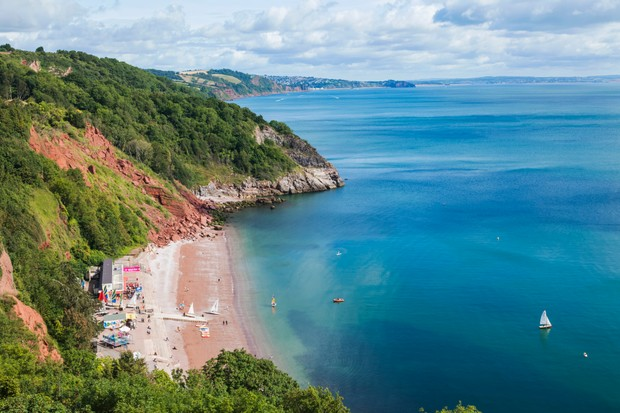 Babbacombe Cliffs, English Riviera Geopark, Devon