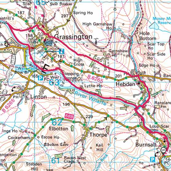 Grassington map