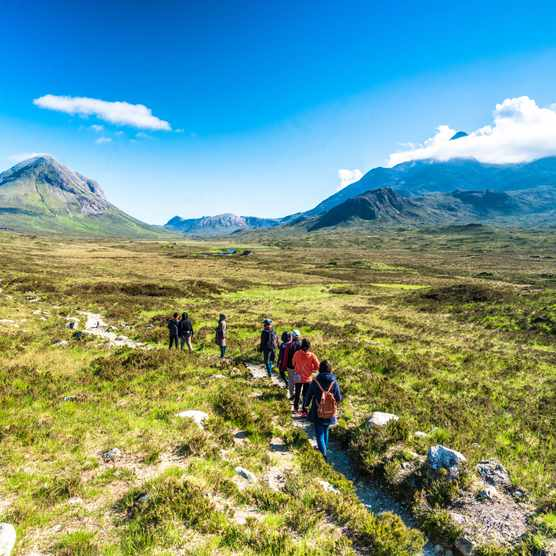 Hiking, Scotland, Walking, Group Of People, Hill