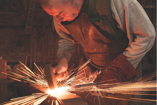Blacksmith Greg Abel, Dartmoor Artisan Trail