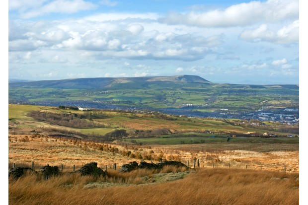 Burnley Town and Pendle Hill, Lancashire