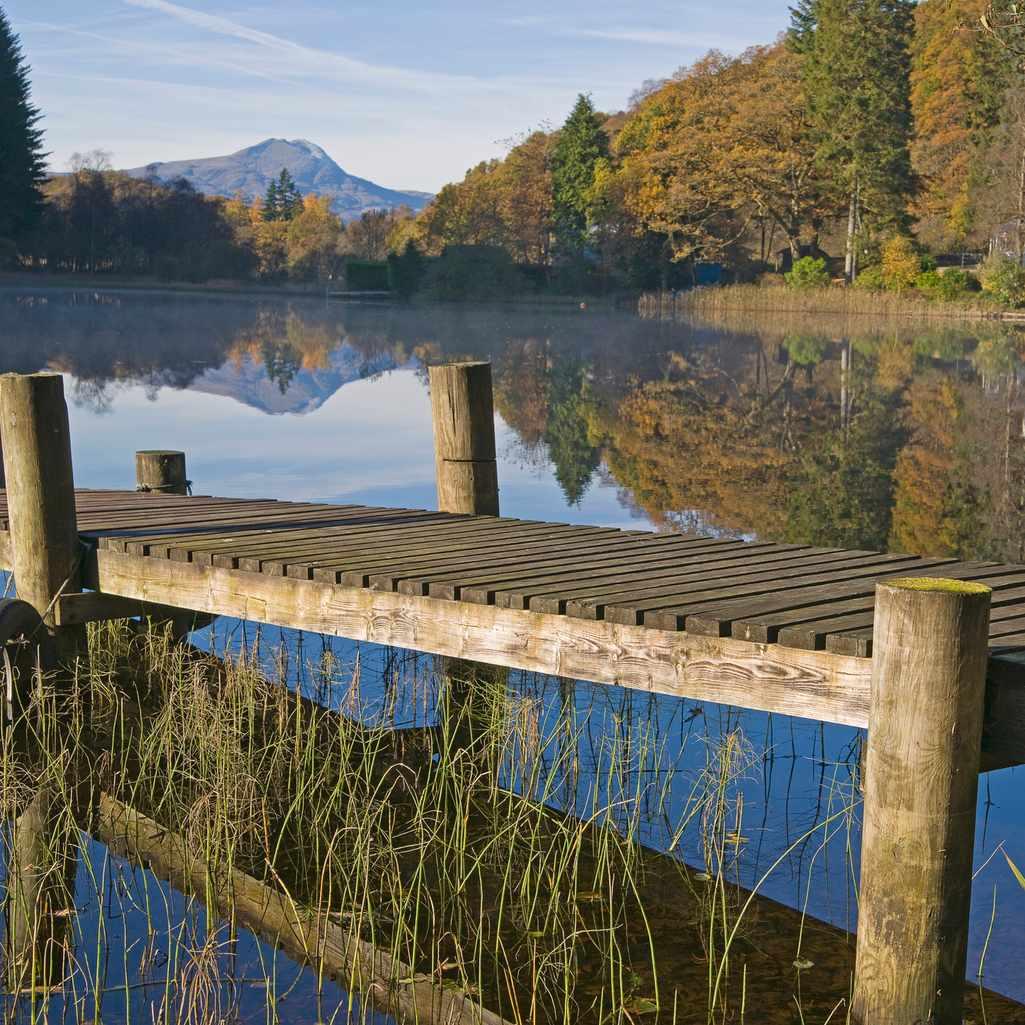 Loch Ard and Ben Lomond in the Trossachs, Scotland
