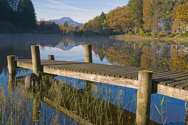Loch Ard and Ben Lomond in the Trossachs, Scotland