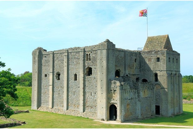 Castle Rising, 12th century Norman keep, Norfolk