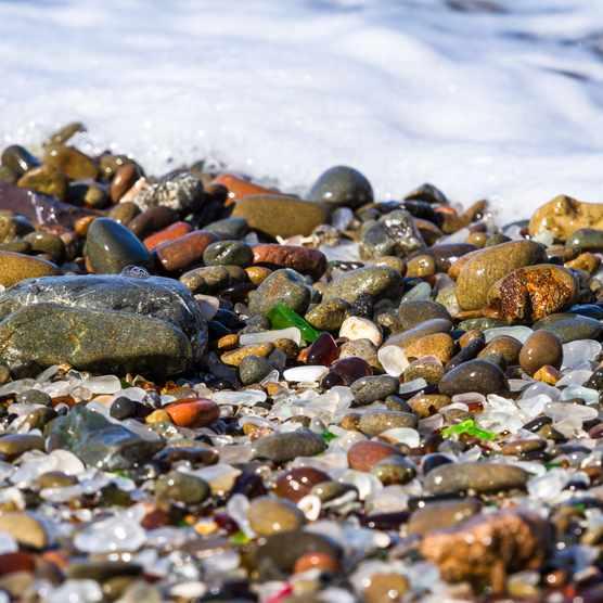 Seaglass on beach