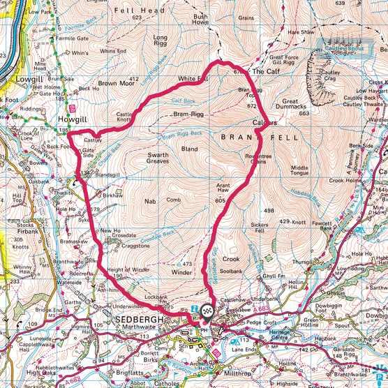 Howgill Fells map