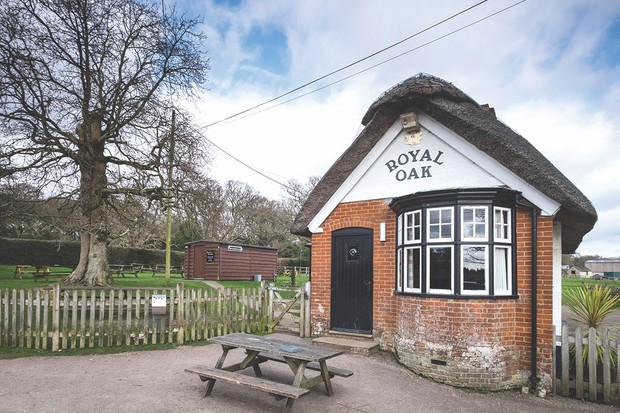 The Royal Oak pub in Fritham in the New Forest, Hampshire
