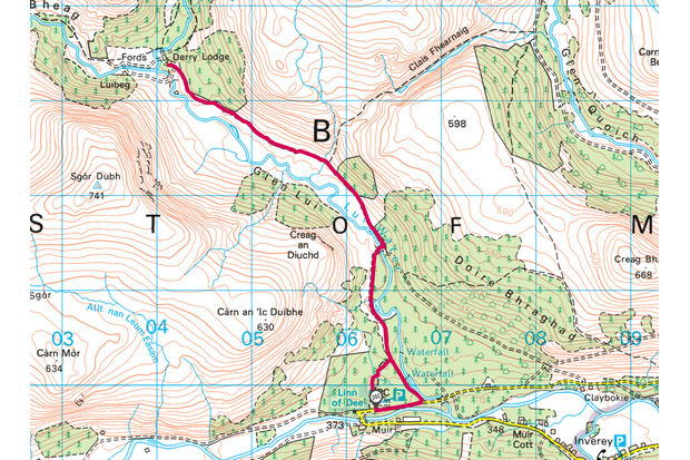 Glen Lui map