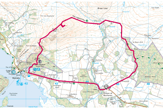 Conic Hill map