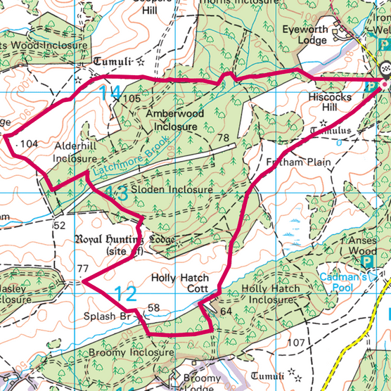 Fritham, Hampshire map