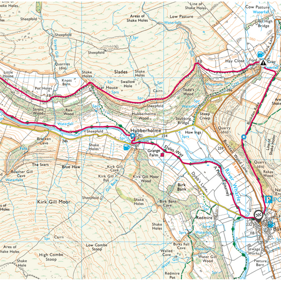 Upper Wharfedale map