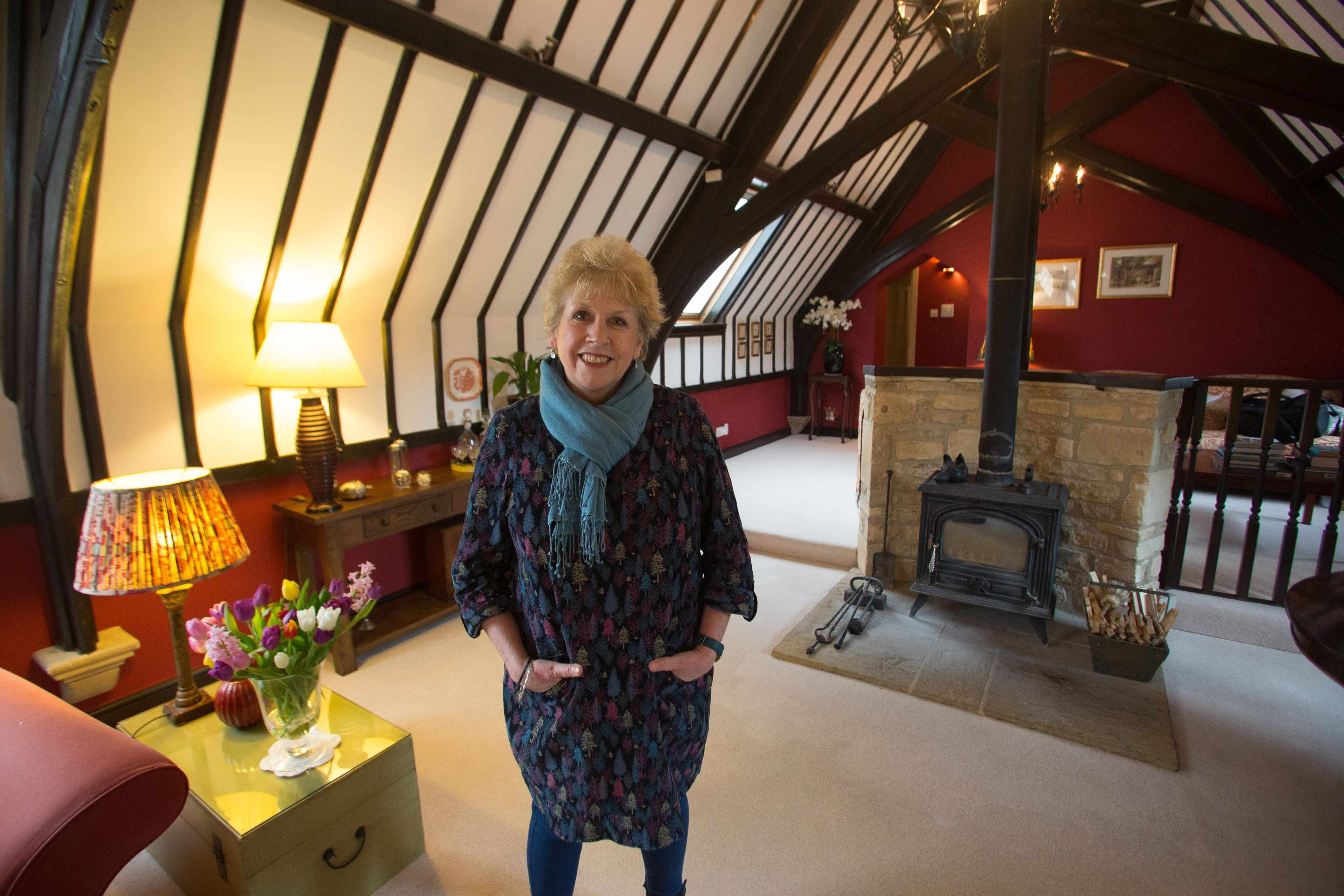 Wendy Veale who owns The Old School B&B which is the highest rated in europe on Tripadvisor and number four in the world. Little Compton, Moreton-in-Marsh. 23 January 2018