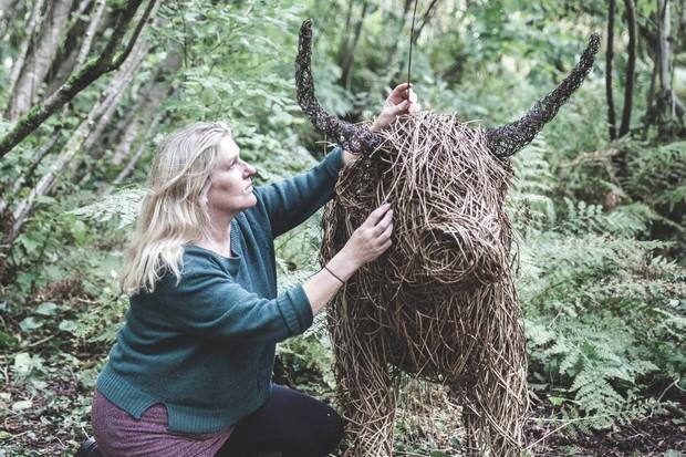 Willow artist Katherine Miles, Dartmoor Artisan Trail