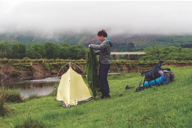 Camping at Crianlarich, Scotland