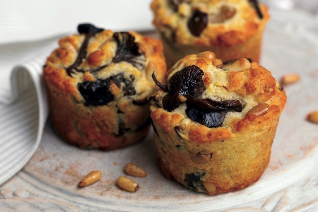 Mushroom muffins from Vegan Cookbook by Tony and Yvonne Bishop-Weston
