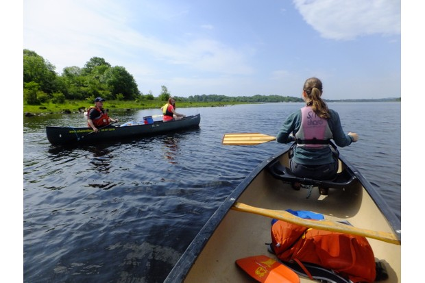 Canoeing on Upper Lough Erne, County Fermanagh
