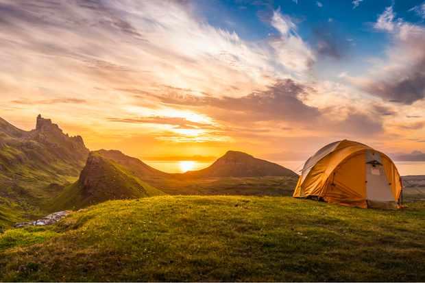 Wild camping on Skye
