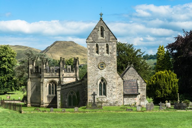 Church of the Holy Cross near Ilam, Staffordshire, UK