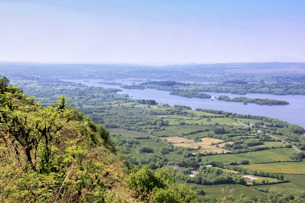 View from Cliffs of Magho over Lower Lough Erne, Fermanagh Northern Ireland