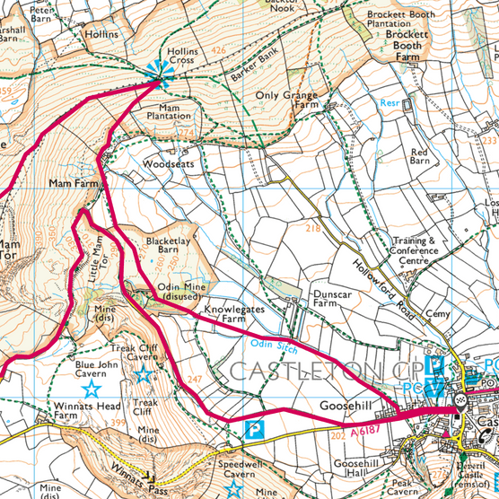 Hollins Cross map