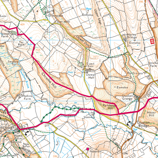 Chrome Hill map