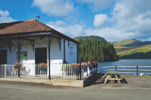 The Pier Cafe, Loch Katrine, Stronachlachar, Scotland