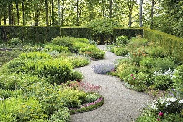 Garden path and borders
