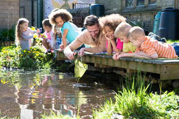 Pond dipping class