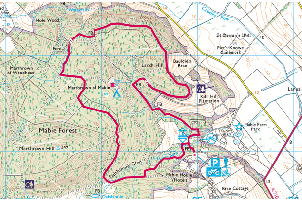 Mabie Forest map
