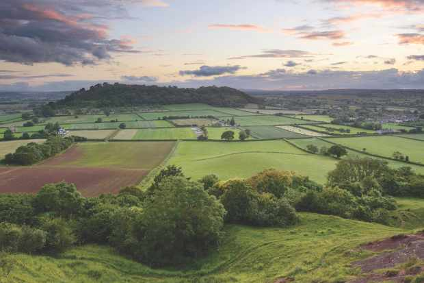 View from the Polden Hills, Somerset