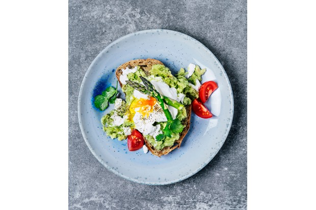 Avocado and sweet potato hash vegetarian brunch (Photo by: Claudia Totir via Getty Images)