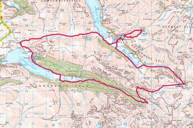 Buttermere and Ennerdale map