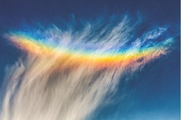 Circumzenithal arc clouds