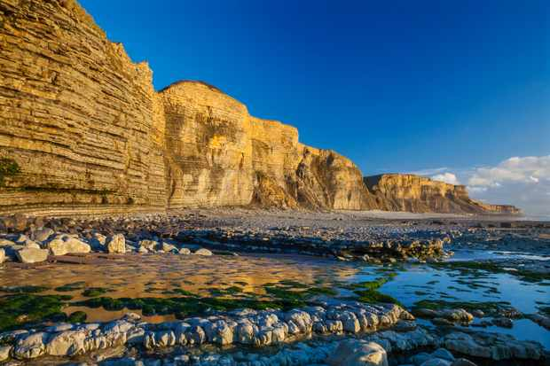 Dunraven Bay, Southerdown, Vale of Glamorgan, Wales