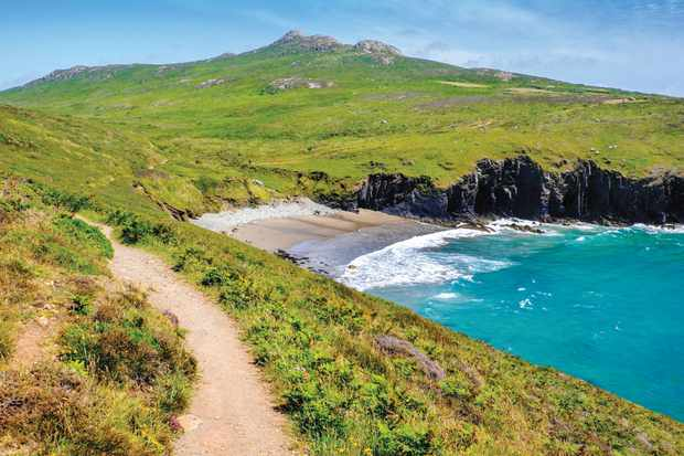 Coastal path along Porthmelgan, Pembrokeshire