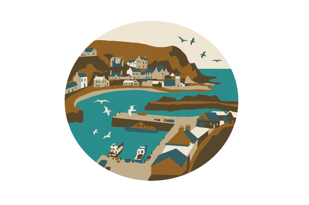 Drawing of Portpatrick harbour