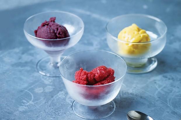 Pure fruit sorbet