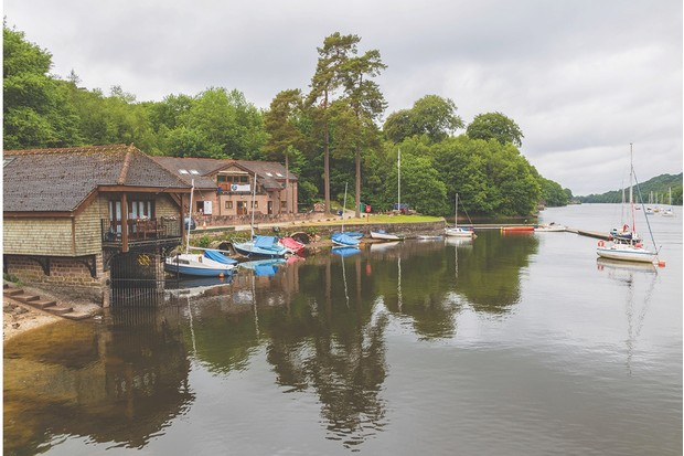 Boathouse and Cafe at Rudyard Lake in Staffordshire