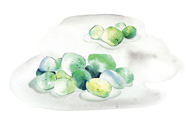 Drawing of seaglass