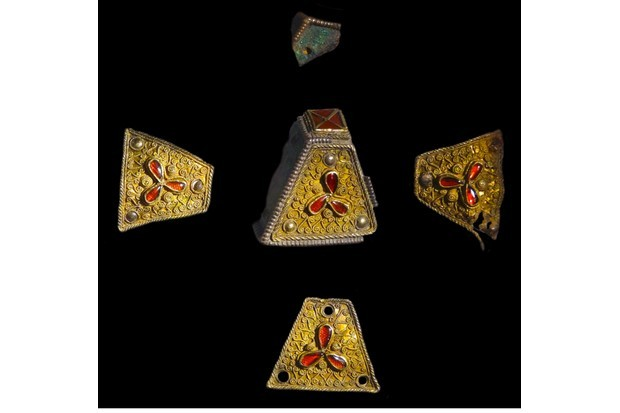old and silver metalwork from the Staffordshire Hoard. (Getty Images)