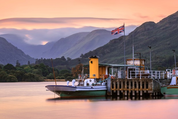 Ullswater Steamer at Glenridding, Lake District