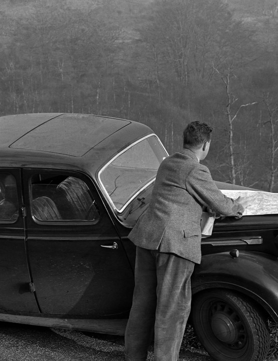 Carrying out research for the woodland census, 1950