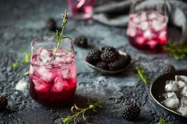 Blackberry sidecar cocktail recipe (Photo by: Sarsmis via Getty Images)