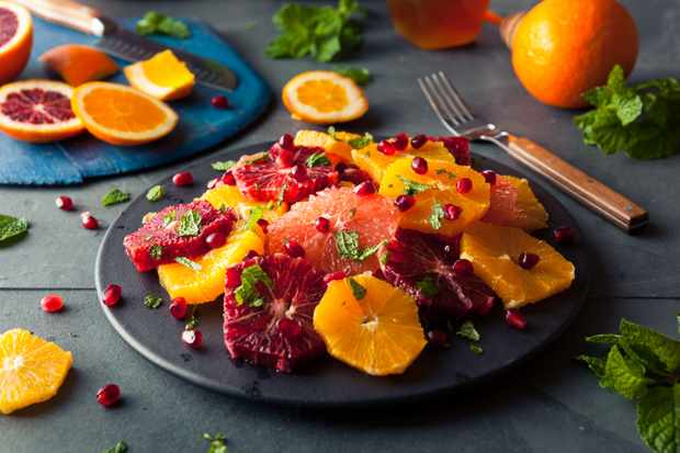 Blood orange boxing day salad (Photo by: Getty Images)
