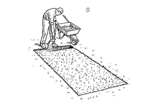 How to double dig a veg plot step 5
