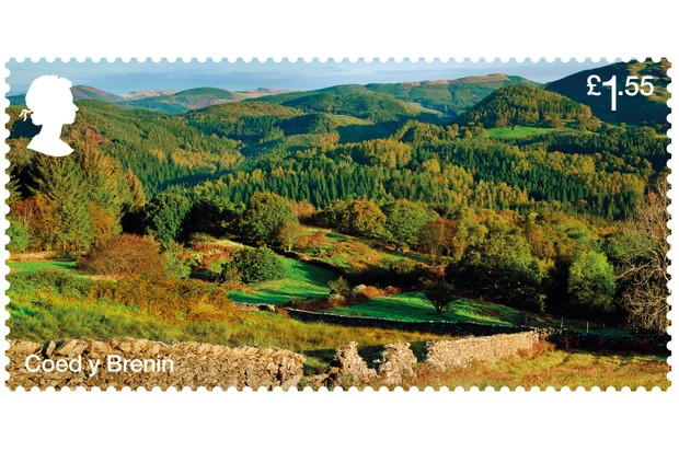 Coed y Brenin stamp (Image via Forestry Commission)