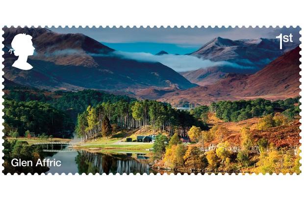 Glen Affric stamp (Image via Forestry Commission)